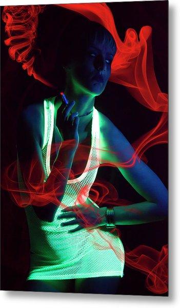 Glow Metal Print by Vojislav Markovic
