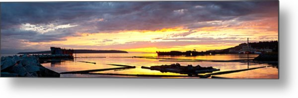 Glowing Freighters Metal Print