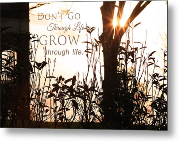 Glowing Landscape With Message Metal Print
