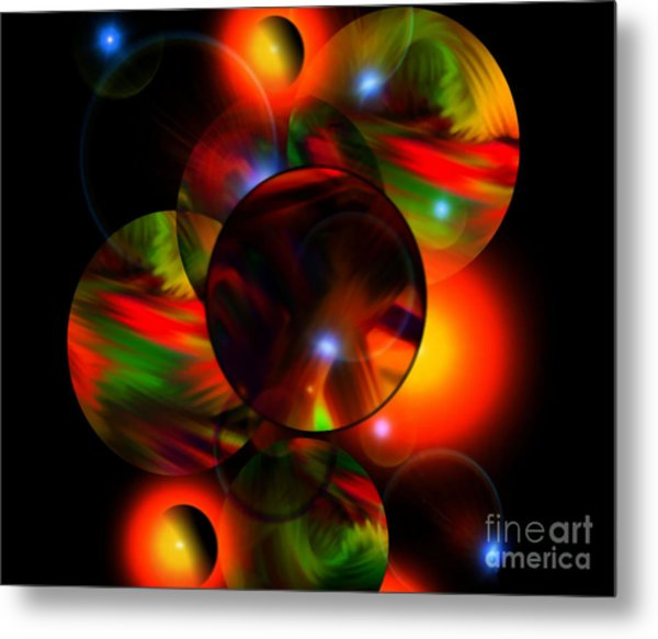 Glowing Marbles Metal Print