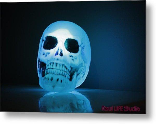 Glowing Skull Metal Print by Al Fritz