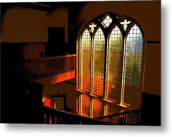 Glowing Stairs Metal Print