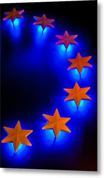 Glowing Stars Of Freedom Metal Print