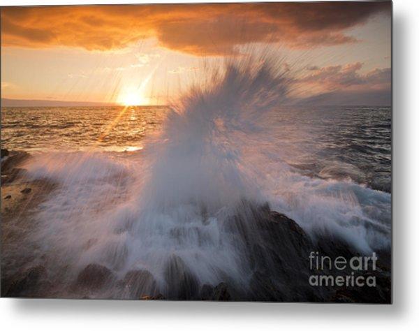 Glowing Sunset Splash Metal Print by Paul Karanik