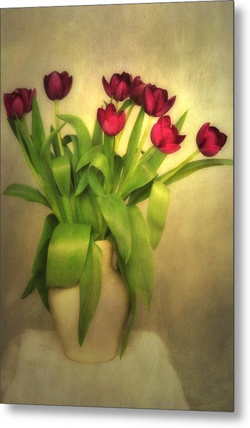 Glowing Tulips Metal Print