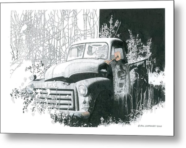 GMC Metal Print by Paul Shafranski