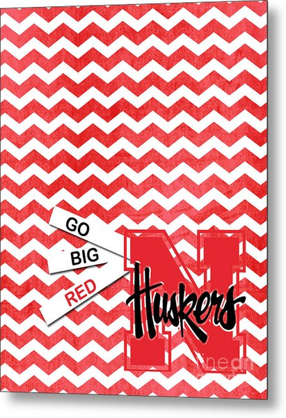 Go Big Red Metal Print