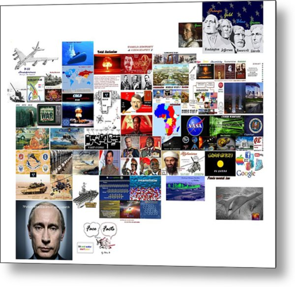 Goal Post Putin Metal Print
