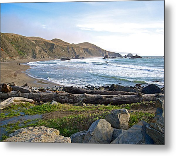 Goat Rock State Beach On The Pacific Ocean Near Outlet Of Russian River-ca  Metal Print