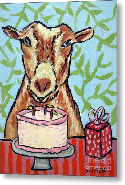 Goat's Birthday Metal Print by Jay  Schmetz