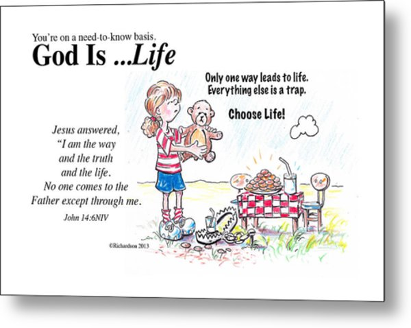 God Is Life Metal Print