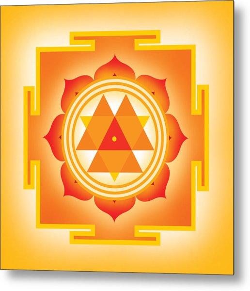 Goddess Durga Yantra Metal Print by Soulscapes - Healing Art