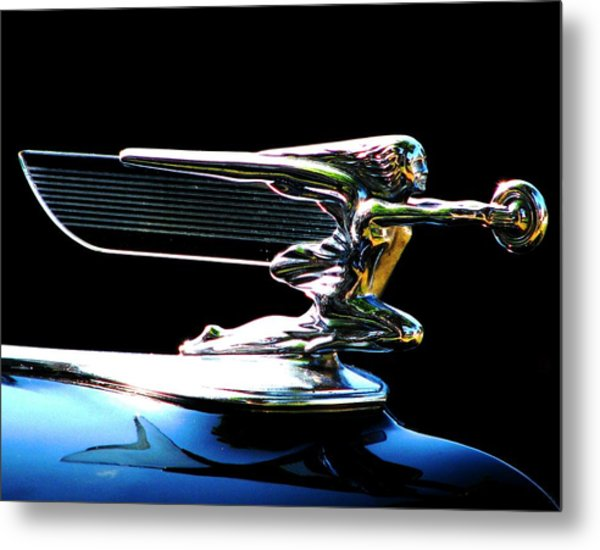 Goddess Of Speed Metal Print