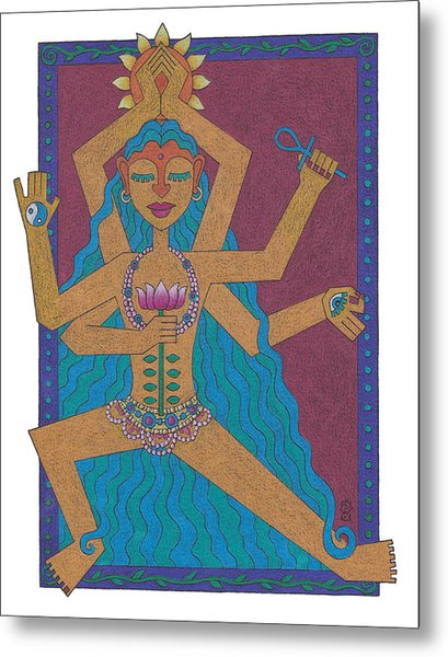 Goddess Of Well-being Metal Print by Sharon Woodward