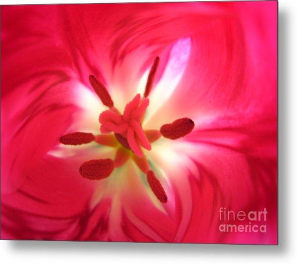 God's Floral Canvas 1 Metal Print