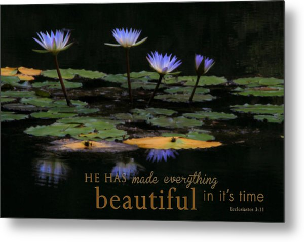 Peace Of Mind With Message Metal Print