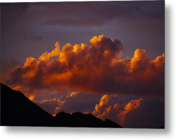 God's Sunset Cloud Metal Print