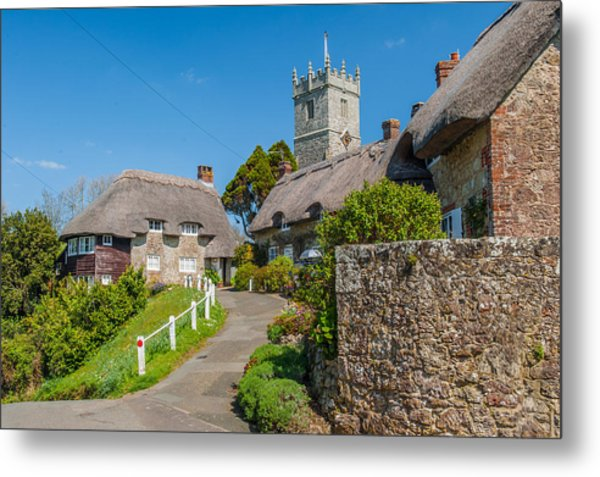 Godshill Isle Of Wight Metal Print by David Ross