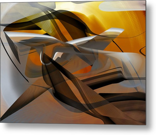 Metal Print featuring the digital art Going Brown Abstract by rd Erickson