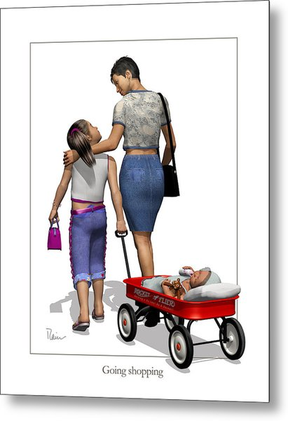 Going Shopping Metal Print