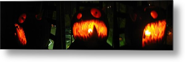 Going Up Pumpkin Metal Print