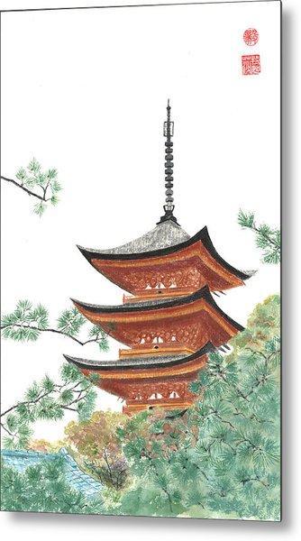 Gojunoto Pagoda Metal Print