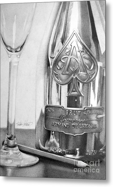 Gold Bottle Metal Print by Anthony Johnson