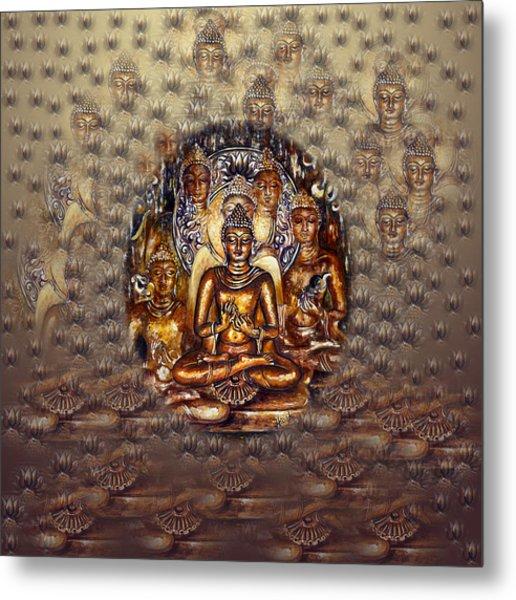 Gold Buddha Metal Print