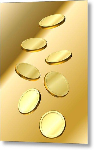 Gold Coins Metal Print