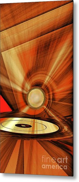 Metal Print featuring the photograph Gold Disk by Eleni Mac Synodinos