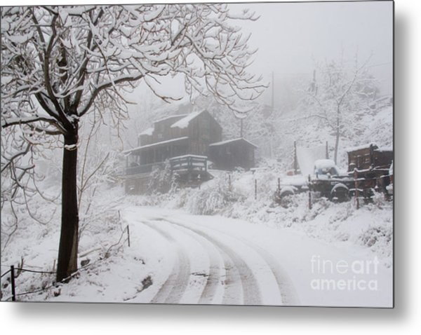 Gold King Mine In Snow Metal Print