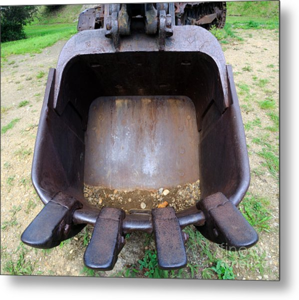 Gold Mining Steam Shovel Bucket Close-up Metal Print