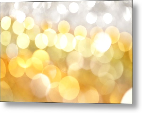 Gold On The Ceiling Metal Print