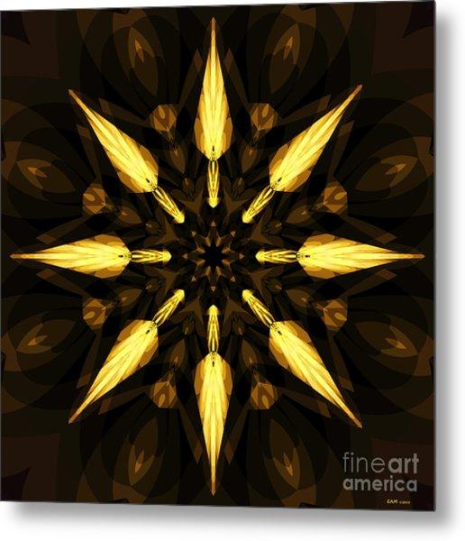 Golden Arrows Metal Print