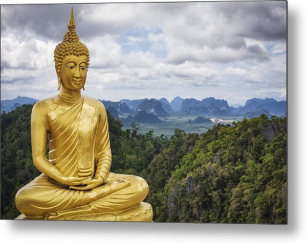 Golden Buddha - Tiger Cave Temple / Thailand Metal Print by Cinoby