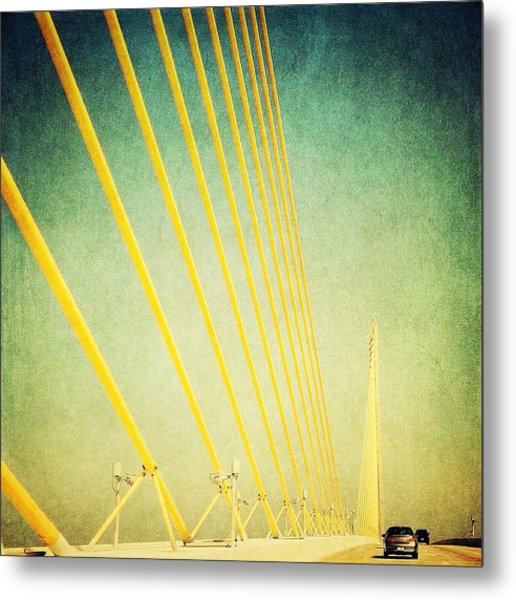 Golden Cables Metal Print by Beth Williams