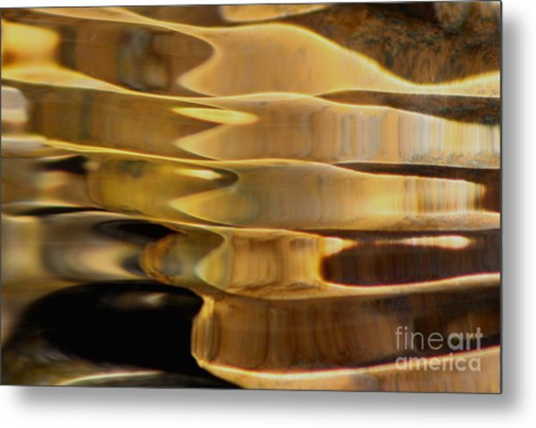 Golden Dance Metal Print