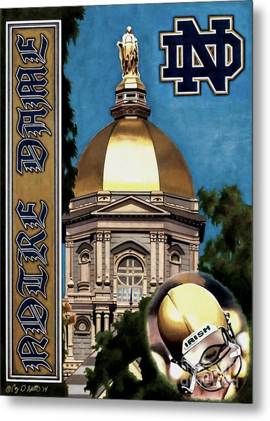 Golden Dome Metal Print