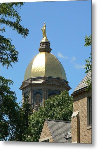 Golden Dome Notre Dame Metal Print
