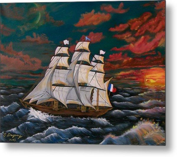 Golden Era Of Sail Metal Print