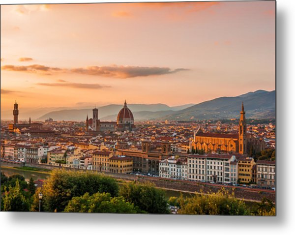 Golden Florence Metal Print