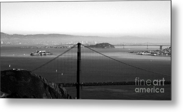 Golden Gate And Bay Bridges Metal Print