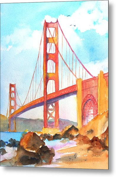 Golden Gate Bridge 3 Metal Print