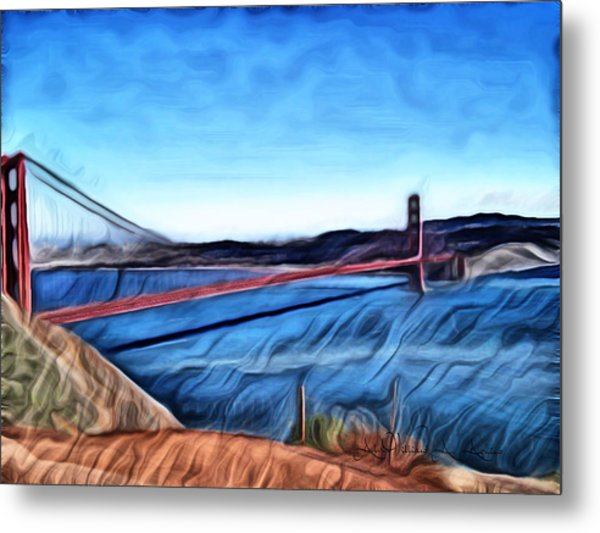 Windy Day At Golden Gate Bridge Metal Print