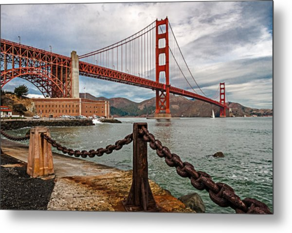 Golden Gate Bridge And Fort Point Metal Print
