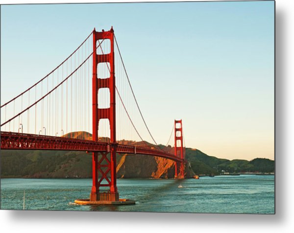 Golden Gate Bridge At Sunset Metal Print