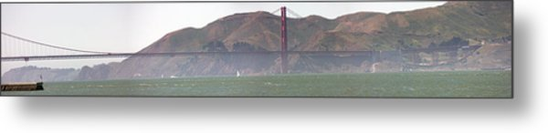Golden Gate Bridge Panorama Metal Print