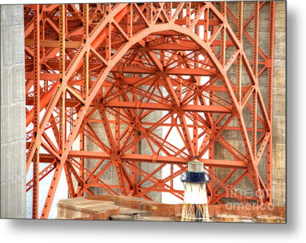 Golden Gate Bridge Supports Metal Print
