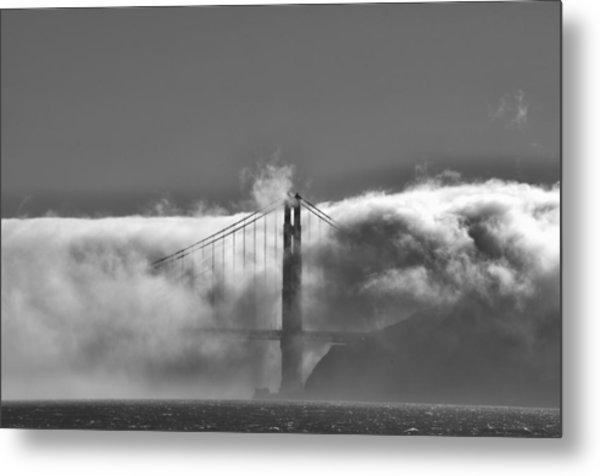 Golden Gate Fog Metal Print