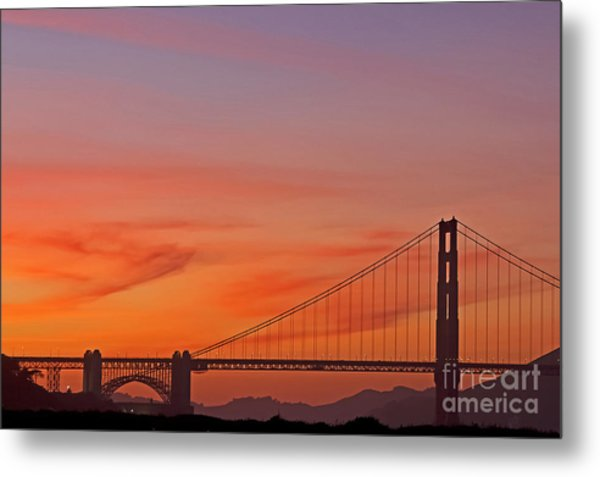 Metal Print featuring the photograph Golden Gate Sunset by Kate Brown
